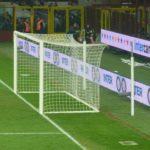Poarta fotbal 7.32x2.44m, aluminiu, fixa