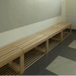 Banca vestiar complet lemn