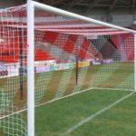 Plasa poarta fotbal bicolora 7,32 x 2,44 x 0,8 x 2m, fir 4mm