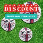 pachet mingi fotbal select rosu